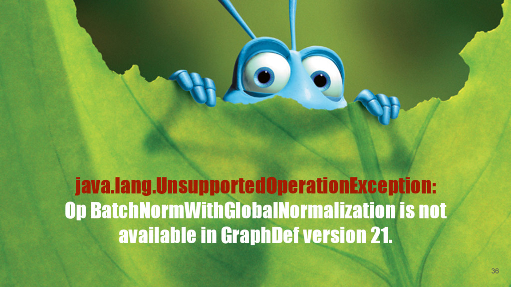 java.lang.UnsupportedOperationException: Op Bat...