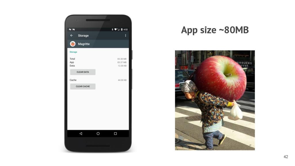 App size ~80MB 42