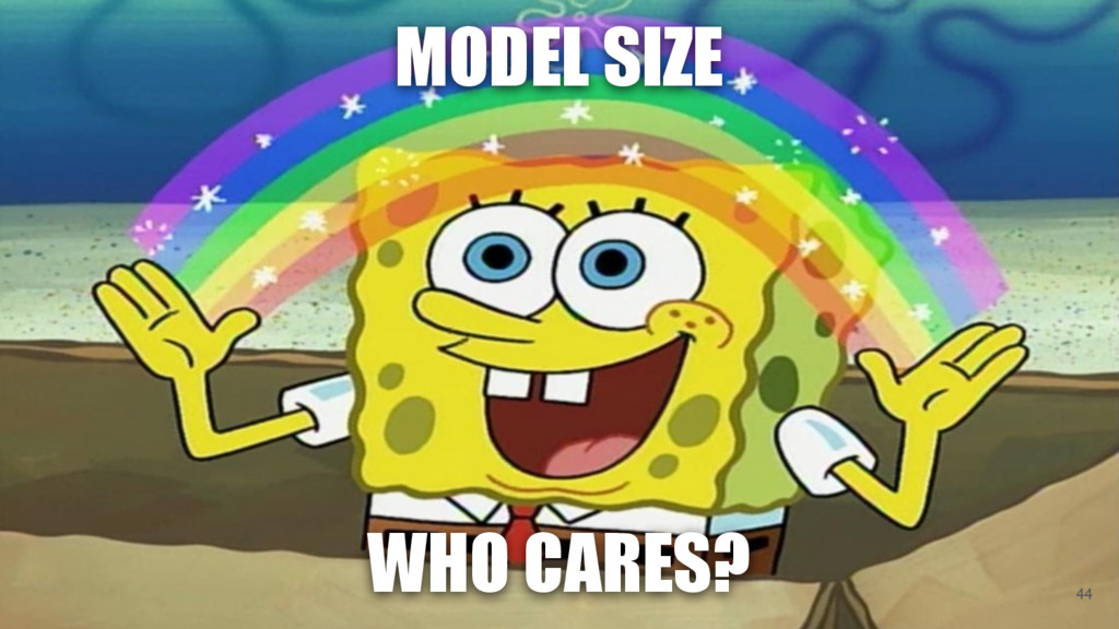 WHO CARES? MODEL SIZE 44