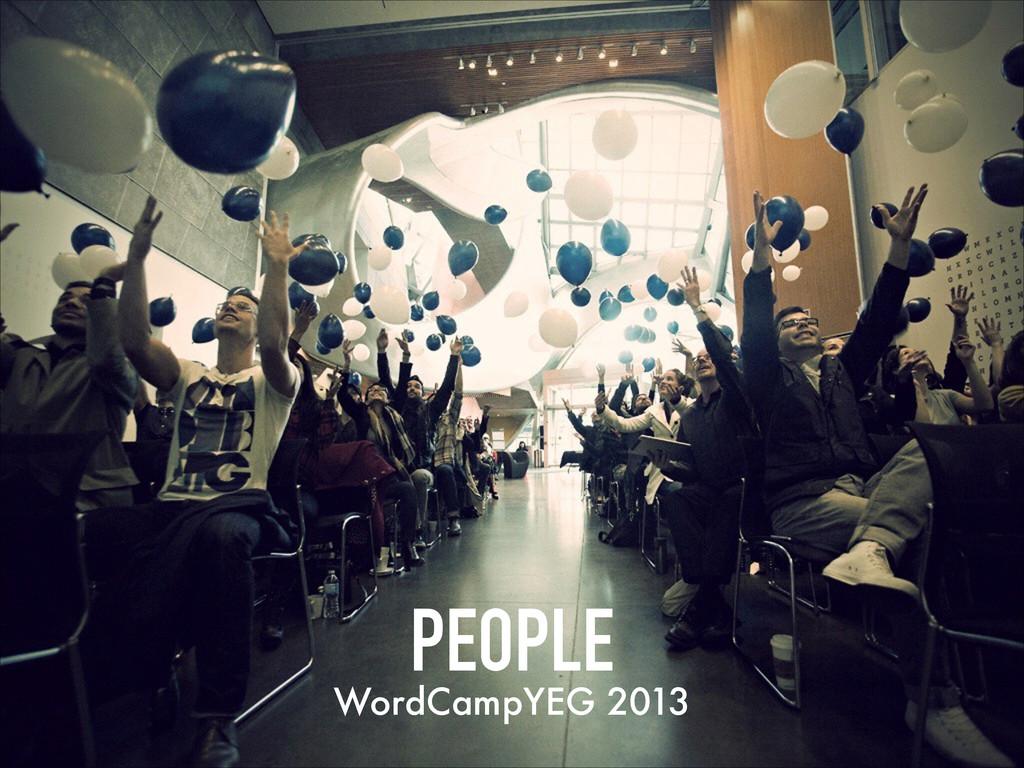 PEOPLE WordCampYEG 2013