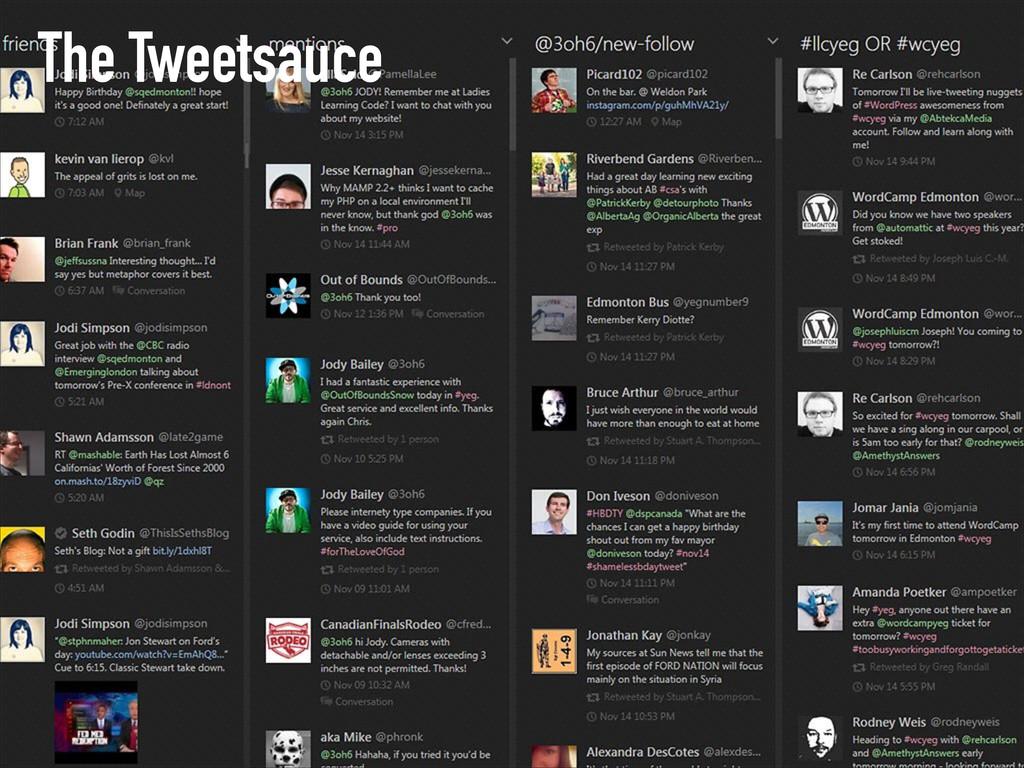 The Tweetsauce