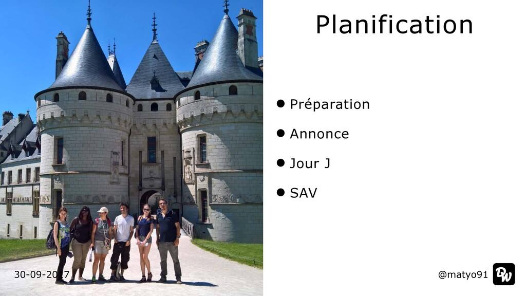 Préparation   Annonce   Jour J   SAV Planificat...