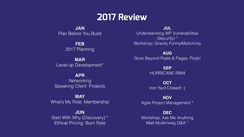 2017 Review JAN
