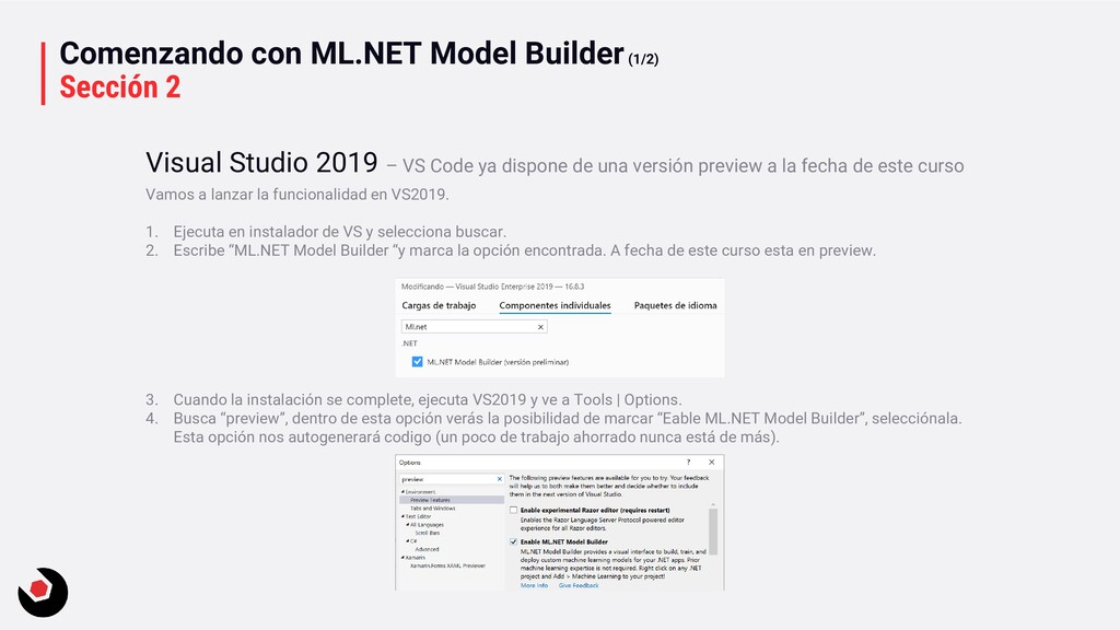 Comenzando con ML.NET Model Builder(1/2) Secció...