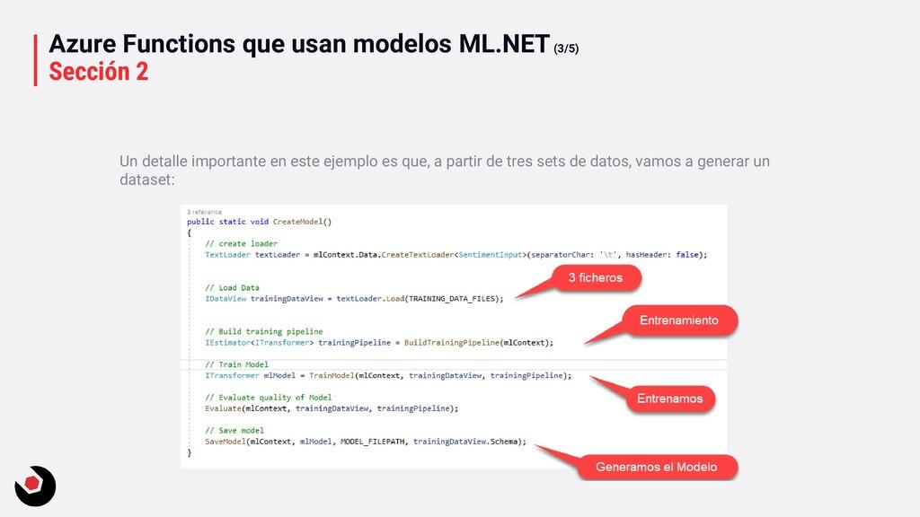 Azure Functions que usan modelos ML.NET(3/5) Se...