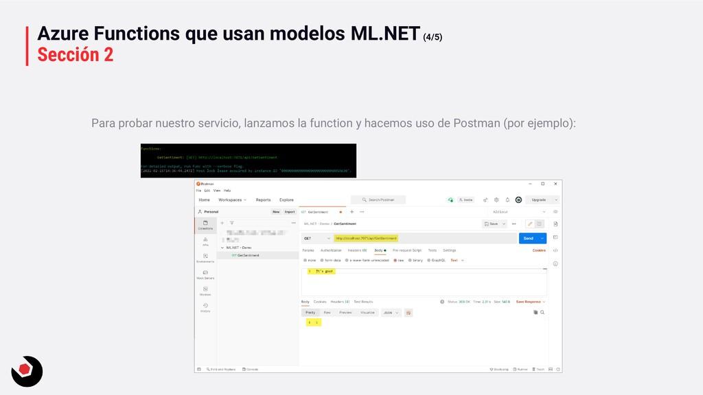 Azure Functions que usan modelos ML.NET(4/5) Se...