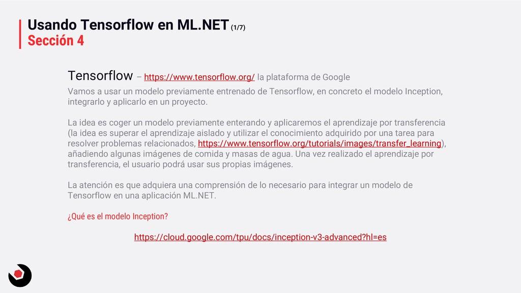 Usando Tensorflow en ML.NET(1/7) Sección 4 Vamo...