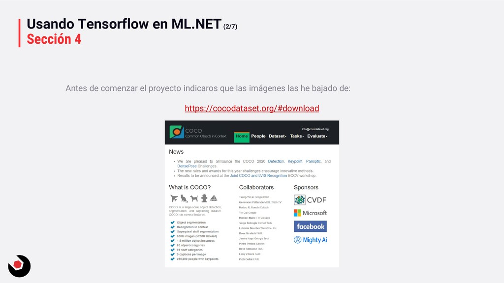 Usando Tensorflow en ML.NET(2/7) Sección 4 Ante...