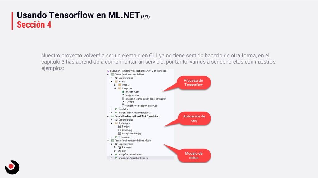 Usando Tensorflow en ML.NET(3/7) Sección 4 Nues...