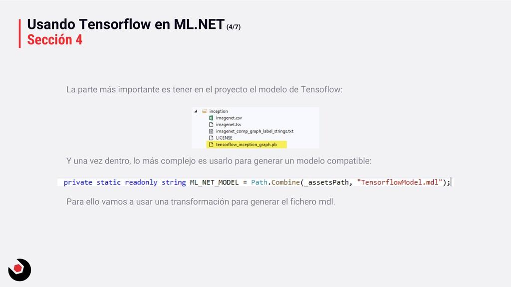 Usando Tensorflow en ML.NET(4/7) Sección 4 La p...