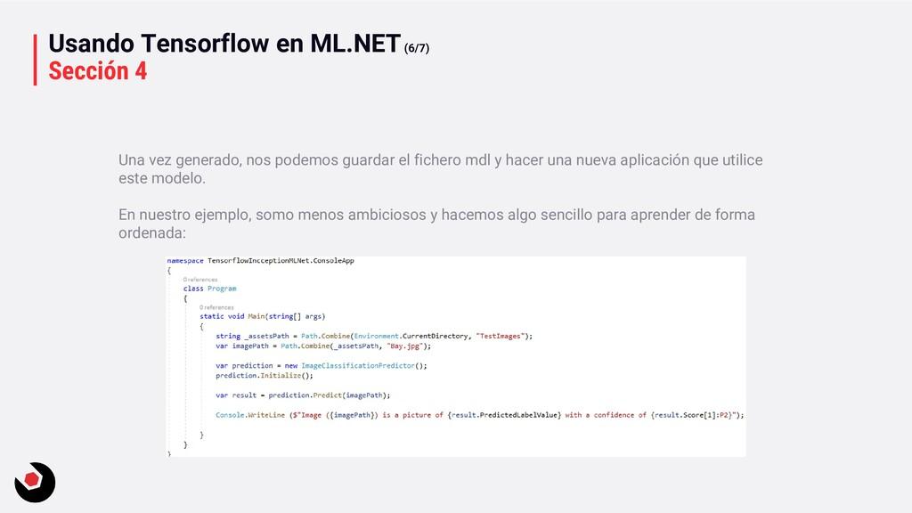 Usando Tensorflow en ML.NET(6/7) Sección 4 Una ...