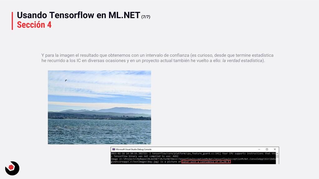 Usando Tensorflow en ML.NET(7/7) Sección 4 Y pa...