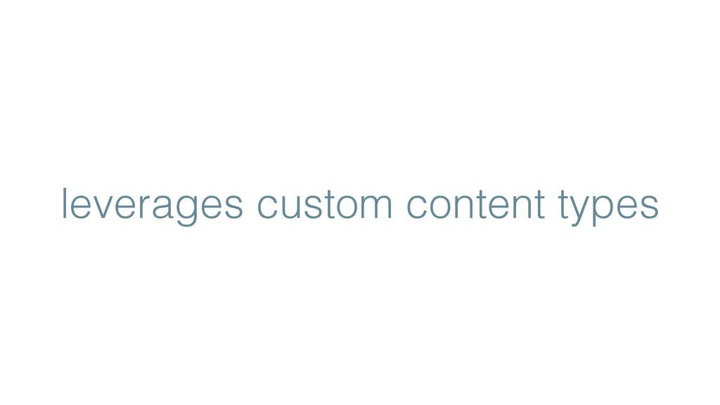 leverages custom content types