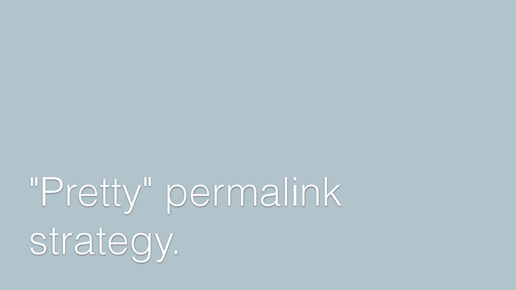"""Pretty"" permalink strategy."