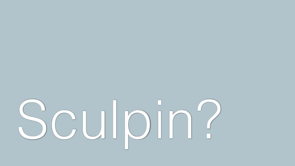 Sculpin?