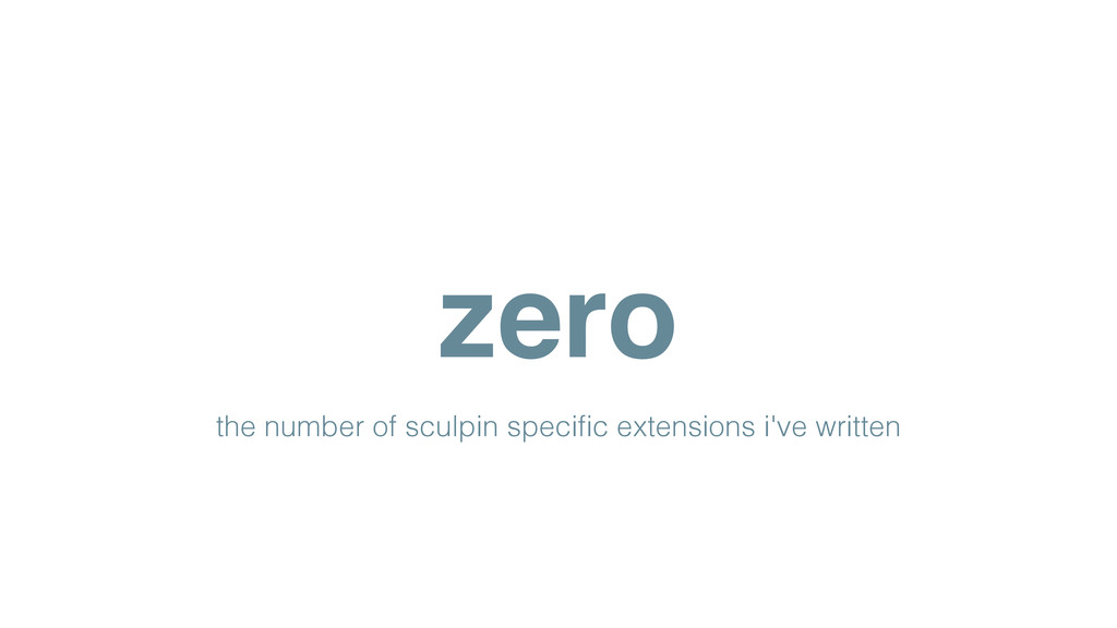 zero the number of sculpin specific extensions i...