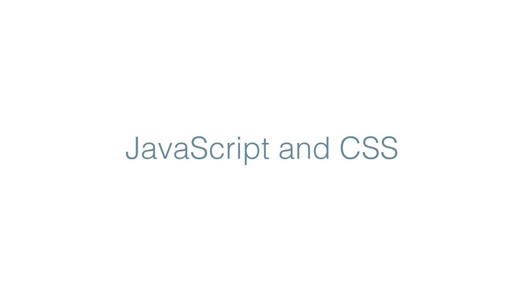 JavaScript and CSS