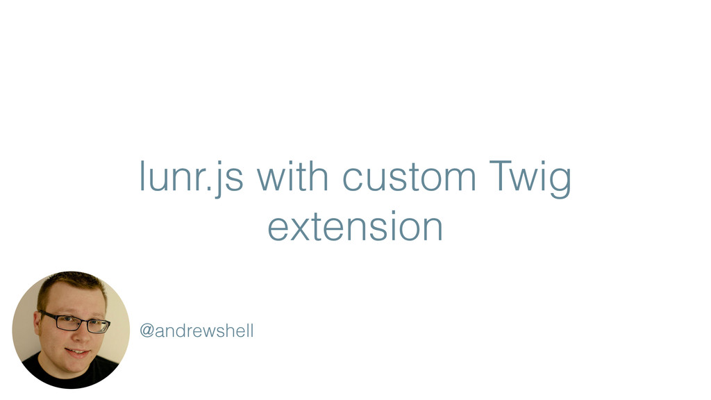 lunr.js with custom Twig extension @andrewshell