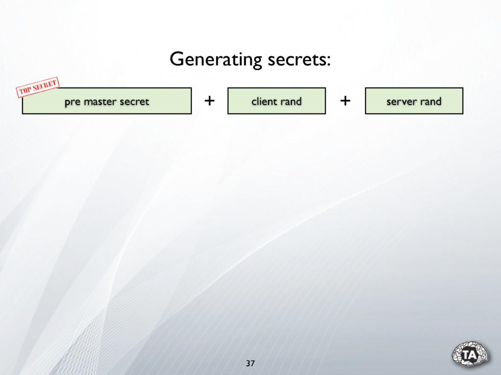 37 pre master secret server rand client rand Ge...