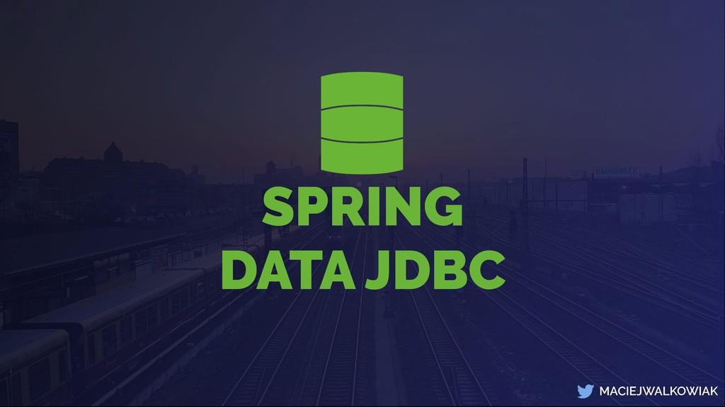 MACIEJWALKOWIAK SPRING DATA JDBC