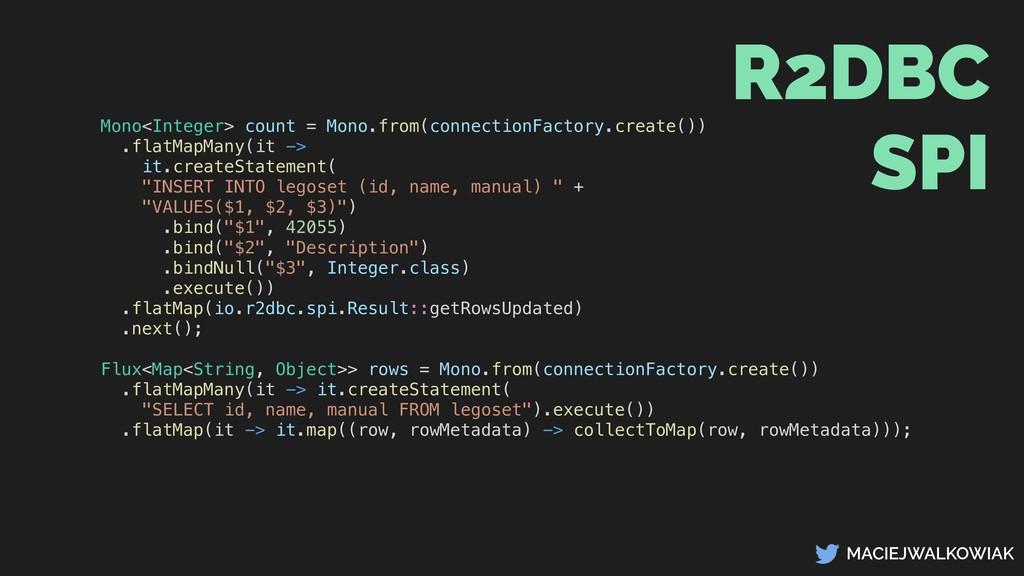 MACIEJWALKOWIAK Mono<Integer> count = Mono.from...