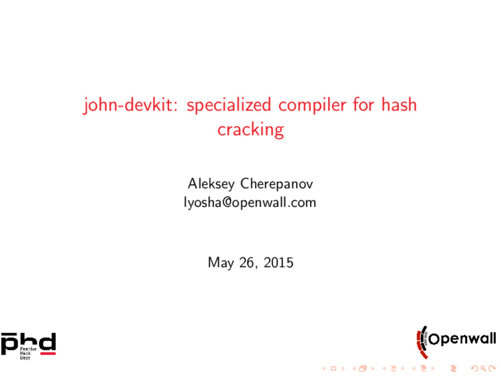 john-devkit: specialized compiler for hash crac...