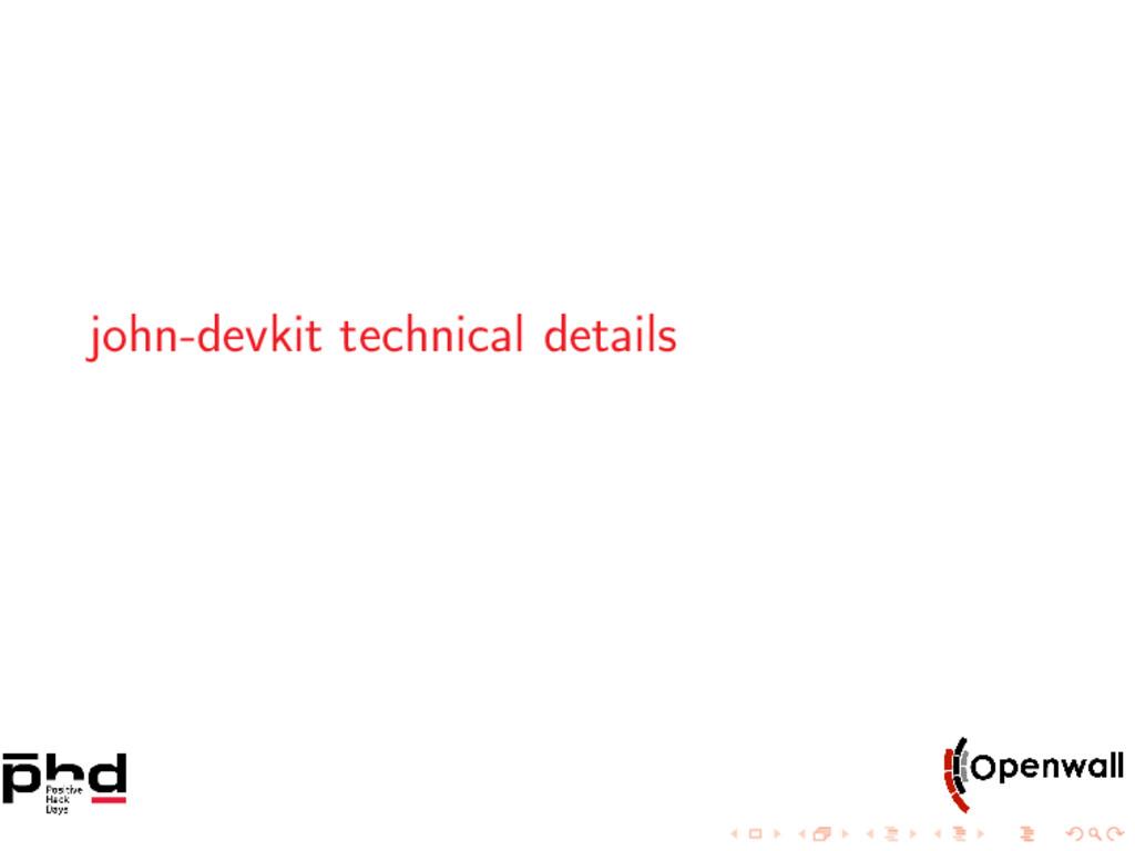 john-devkit technical details