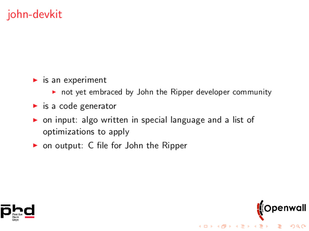 john-devkit is an experiment not yet embraced b...