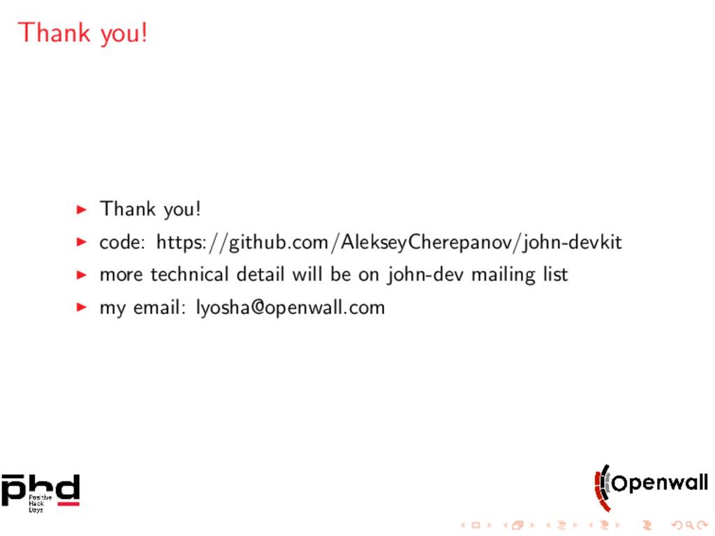 Thank you! Thank you! code: https://github.com/...