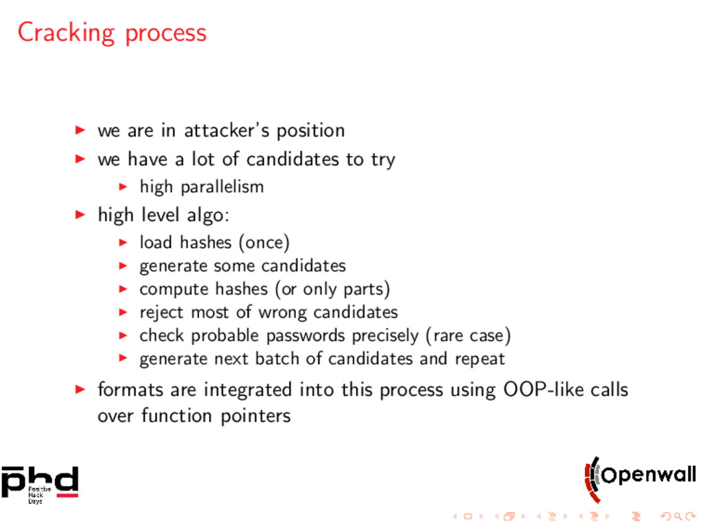 Cracking process we are in attacker's position ...