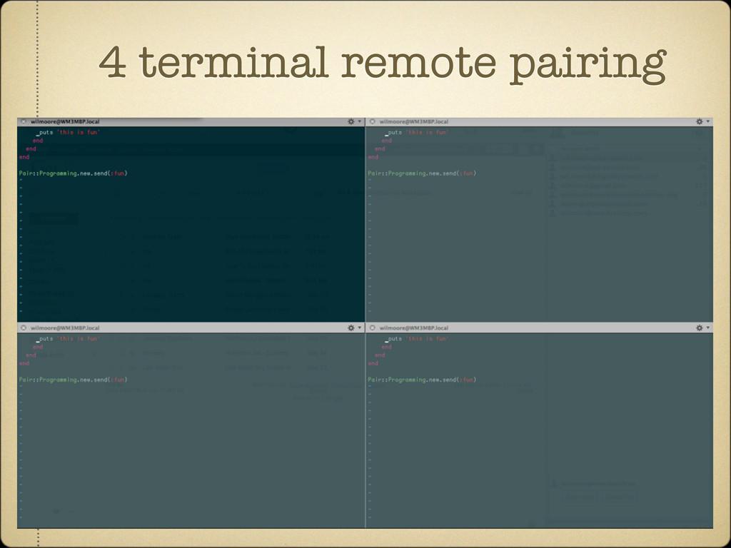 4 terminal remote pairing
