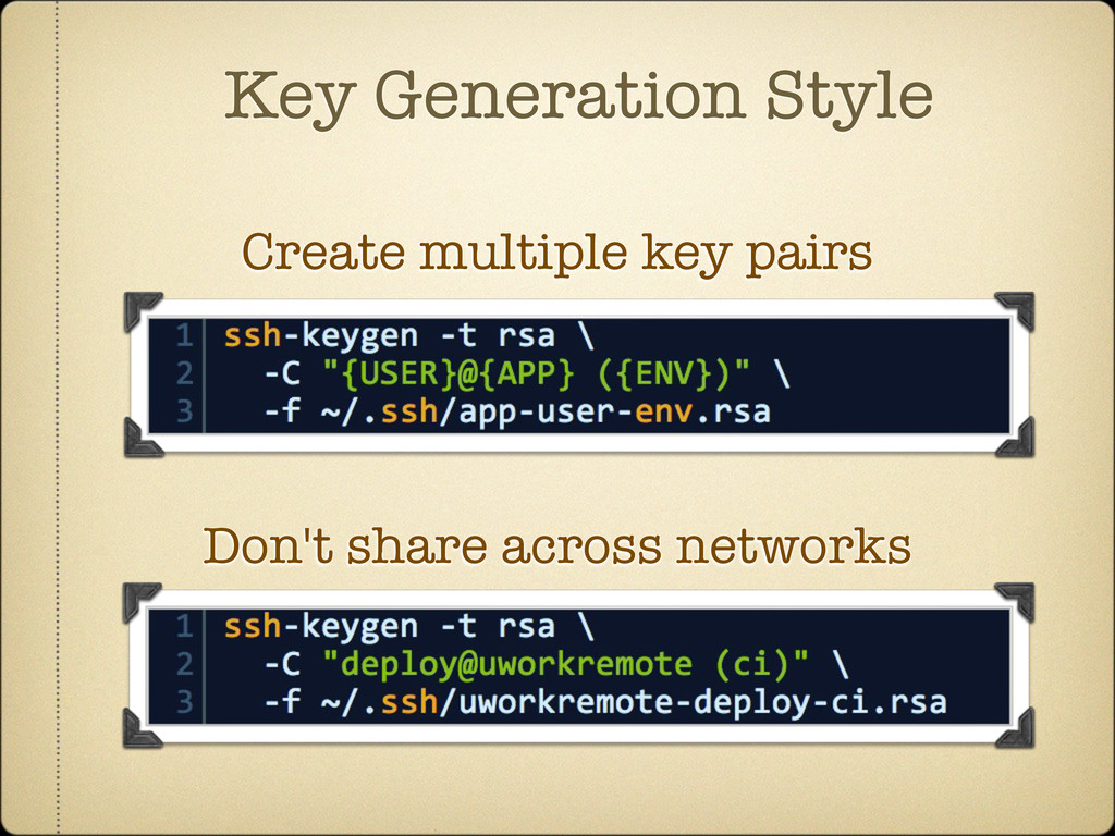 Key Generation Style Create multiple key pairs ...