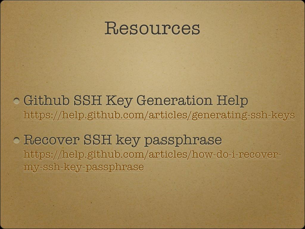 Github SSH Key Generation Help https://help.git...