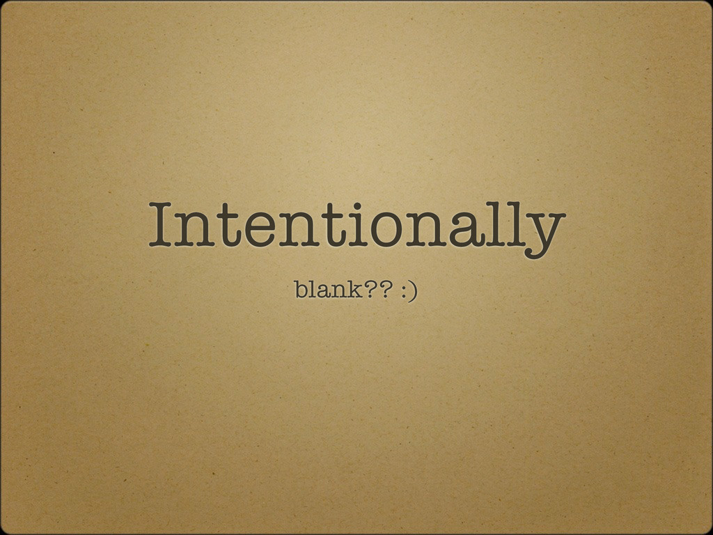 Intentionally blank?? :)
