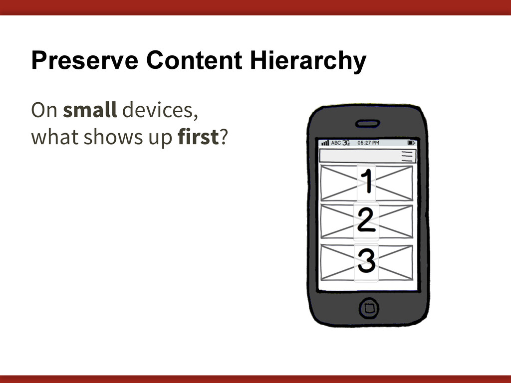Preserve Content Hierarchy On small devices, wh...