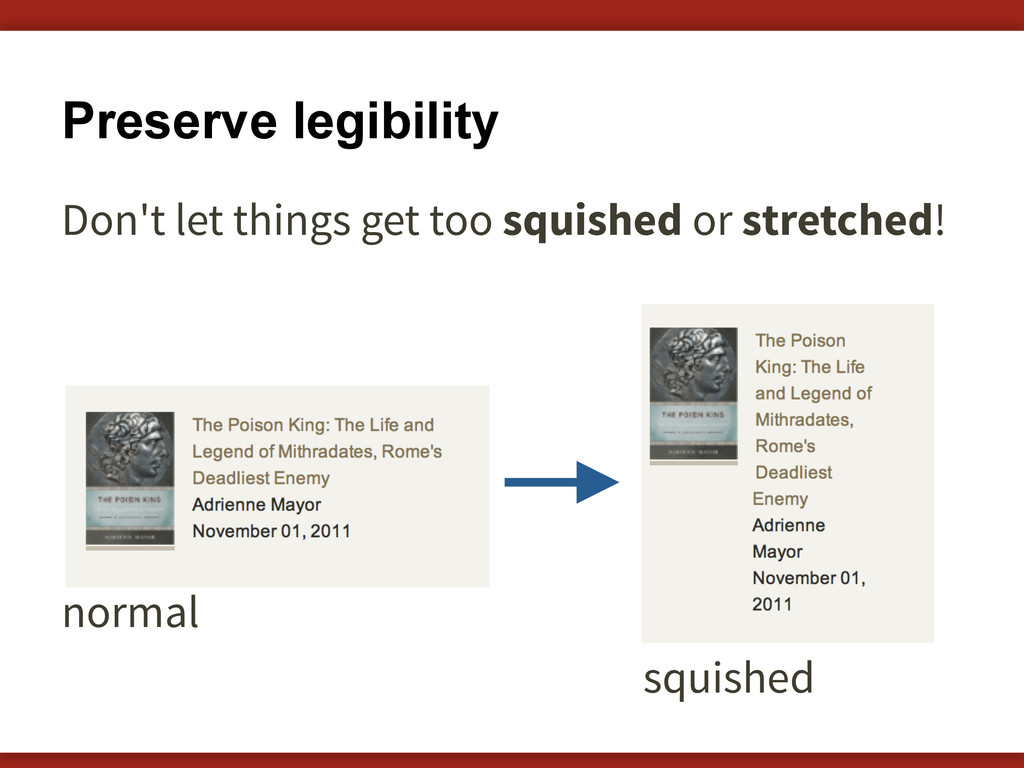 Preserve legibility Don't let things get too sq...
