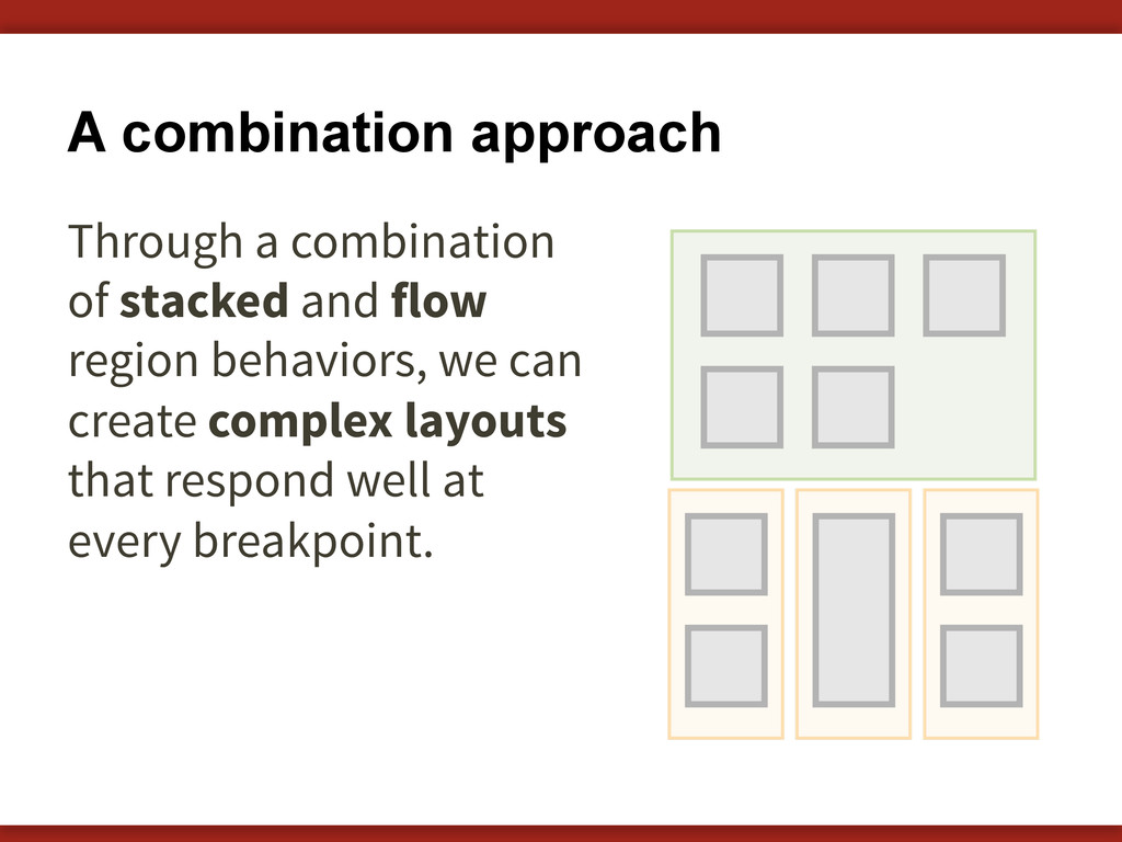 A combination approach Through a combination of...