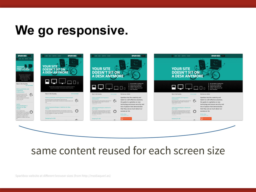 We go responsive. 