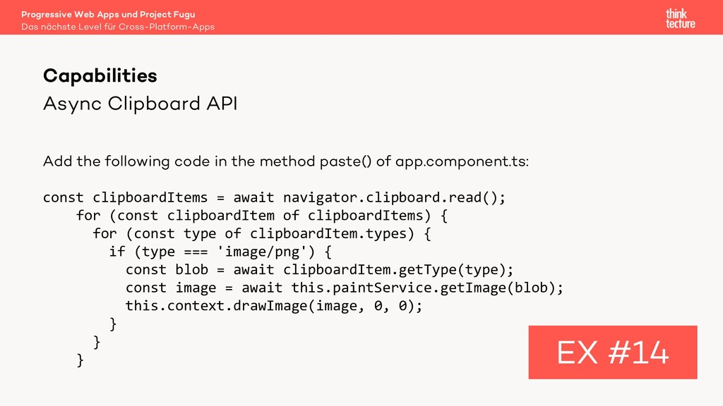 Async Clipboard API Add the following code in t...