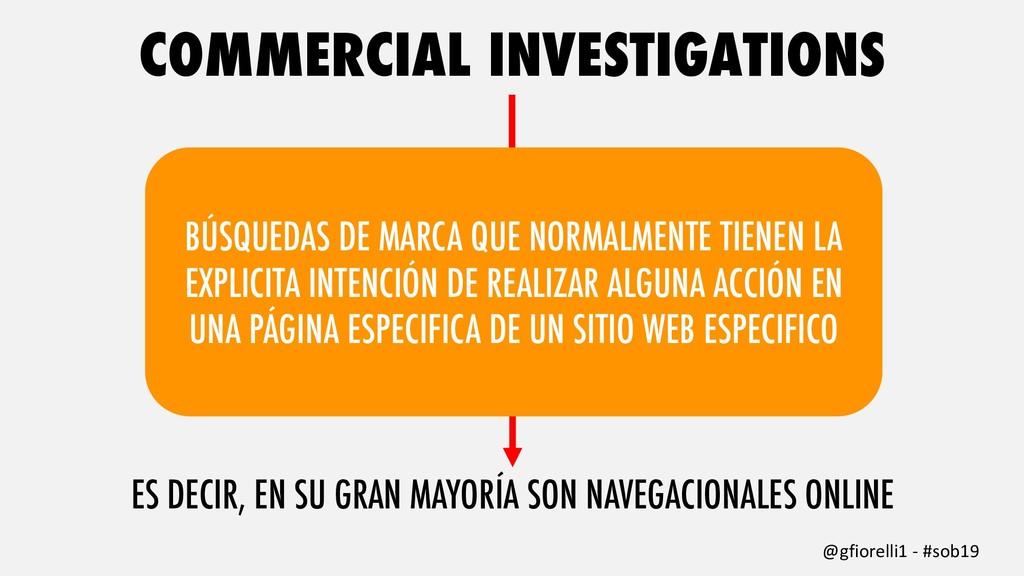 COMMERCIAL INVESTIGATIONS @gfiorelli1 - #sob19 ...