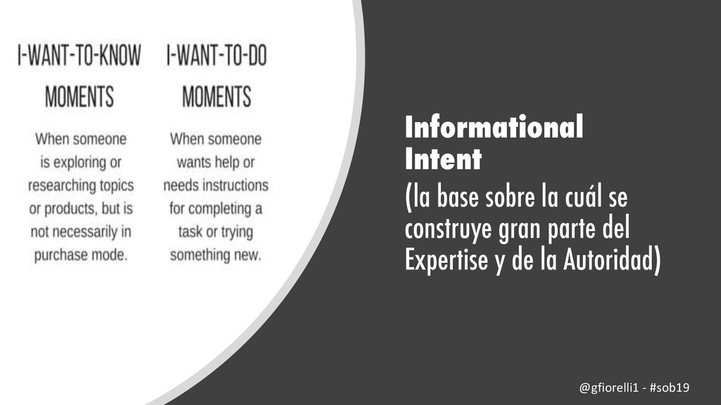 Informational Intent (la base sobre la cuál se ...