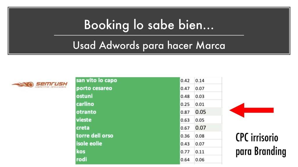 Booking lo sabe bien… Usad Adwords para hacer M...