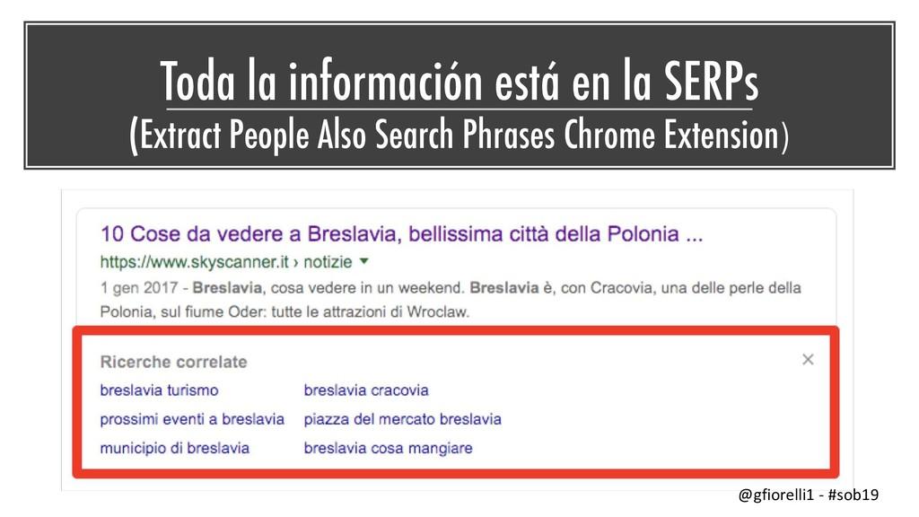 Toda la información está en la SERPs (Extract P...