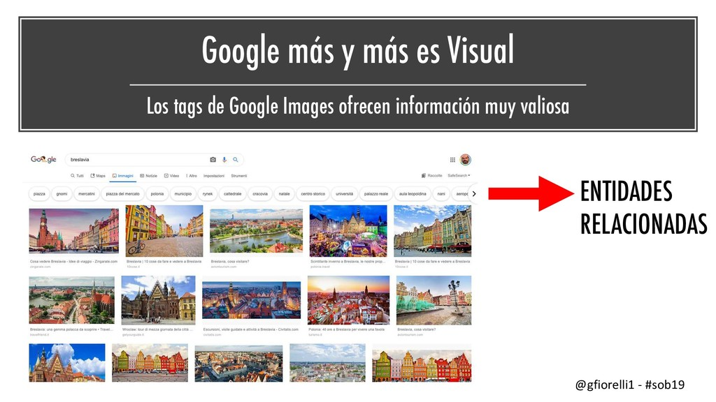 Google más y más es Visual Los tags de Google I...