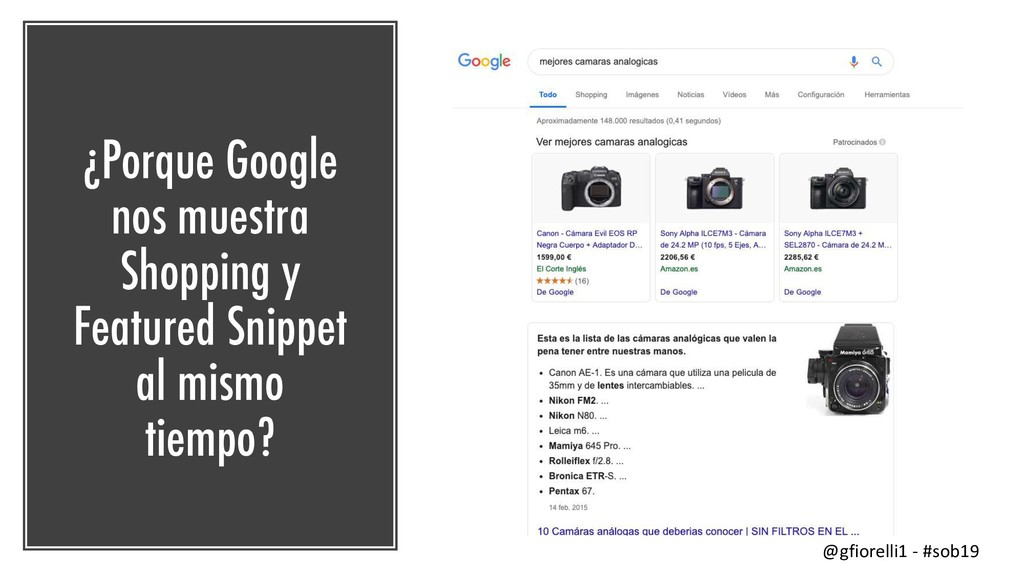 ¿Porque Google nos muestra Shopping y Featured ...