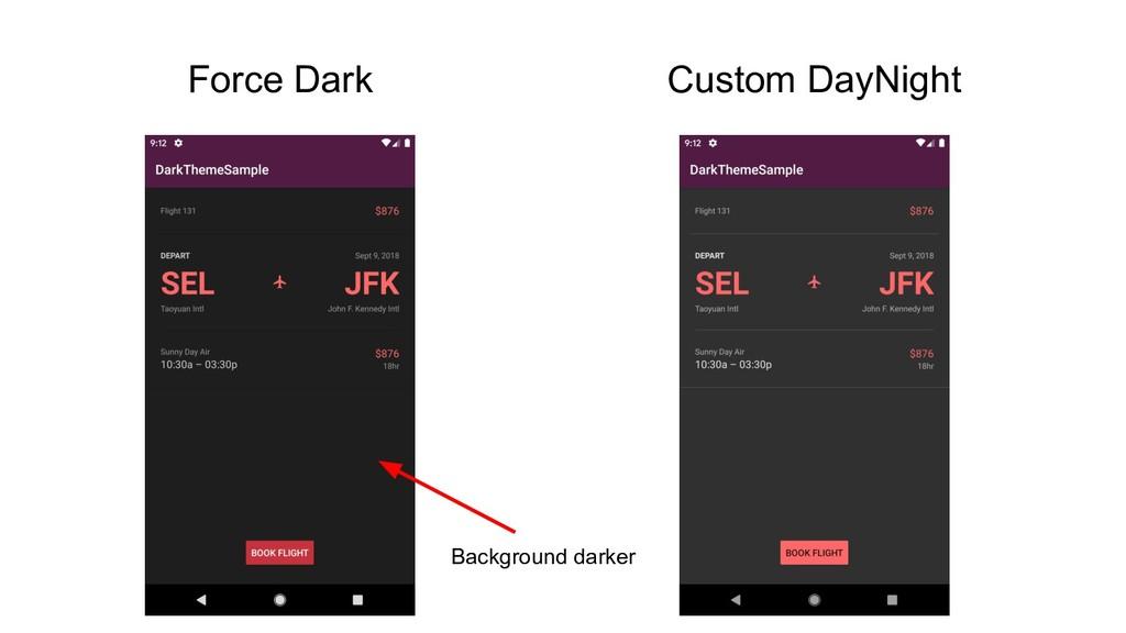Force Dark Custom DayNight Background darker