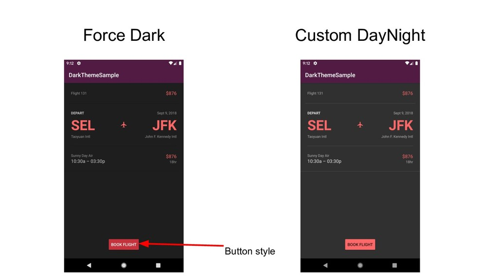 Force Dark Custom DayNight Button style