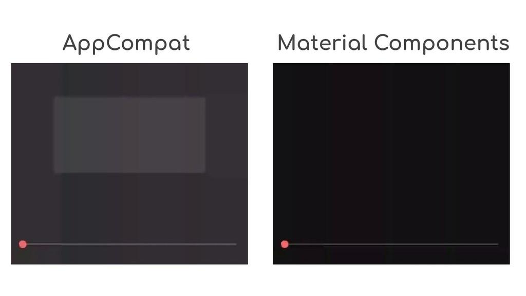 AppCompat Material Components