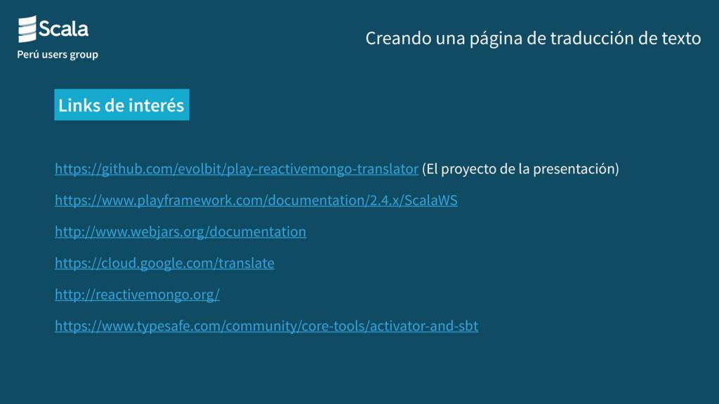 Perú users group Creando una página de traducci...
