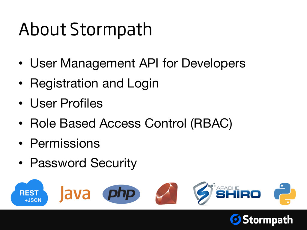 About Stormpath • User Management API for Devel...